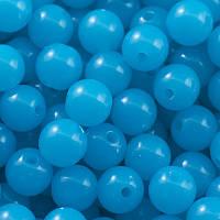 Бусины акрил неон, голубой, 10 мм (80 шт) УТ0027445