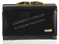 Небольшой надежный женский кожаный кошелек высокого качества PRENSITI art. PR68-6892A черный лак