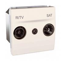 Механизм розетки TV-R/SAT одиночная Слоновая кость Schneider Electric Unica