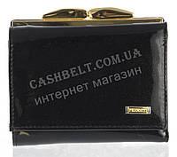 Маленький надежный женский кожаный кошелек высокого качества PRENSITI art. PR68-6893A черный лак