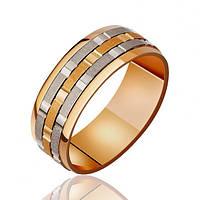 Золотые обручальные кольца комбинированные 66416, 4.97, 23