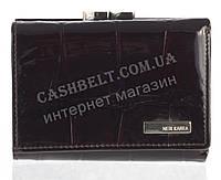 Маленький надежный женский кожаный кошелек высокого качества NERI KARRA art. 3306A-T25DD темно коричневый лак