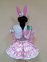 Прокат карнавальный костюм зайчика, зайчонка для девочки, р. 104-116