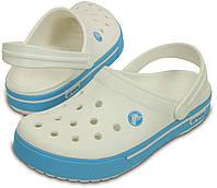 Кроксы мужские Crocs White Electric Blue Crocband Clog М10 43 Оригинал