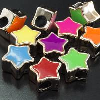 Бусины акрил эмаль шармы, звезда, 15х15х8мм (20шт) УТ0002135