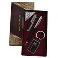 Деловой набор Аl-013,подарочный мужской набор 3 в 1 :ручка, брелок, открывалка,сувенирная продукция