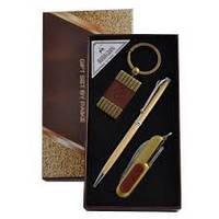 Деловой набор А2_5,подарочный мужской набор 3 в 1 :ручка, брелок, открывалка,сувенирная продукция