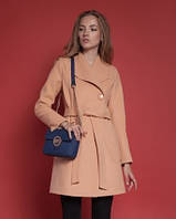 Женское демисезонное пальто Мадлен на круглых пуговицах