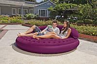 Надувная флокированная кровать-диван Intex 68881(191х53см) без насоса