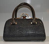 Модная женская сумка вечерняя серая