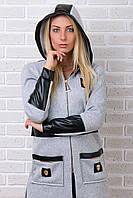 Брендовый гламурный зимний спортивный костюм Турция S M L XL XXL 50 52 54 серый