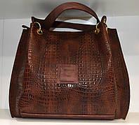 Женская сумка-торба бежевая Willow коричневая
