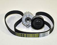 Комплект натяжитель + ремень генератора на Renault Kangoo II 1.5dCi + 1.6 16V — Renault (Оригинал) 7701476476