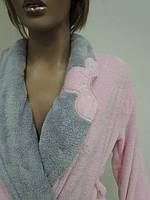 Женские махровые халаты короткие