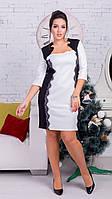 Женские платья,  размер 48,50,52,54,56. Ткань - трикотаж+ажур. В наличии 3 цвета