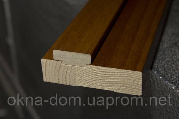Коробки дверные 80 мм  деревянные с уплотнителем ПВХ Deluxe