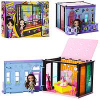 Домик 5002-03-04 для куклы (11см), аксессуары, 2 вида, в коробке, 46-31-7 см