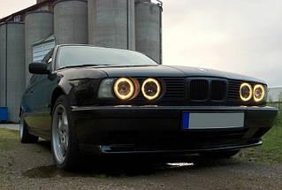 CCFL Ангельские глазки на BMW E30, E32, E34 Желтые