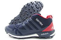 Кроссовки мужские Adidas Terrex зимние темно-синие (адидас)