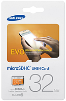 Samsung micro SD card (карта памяти) на 32 Гб 10 класс