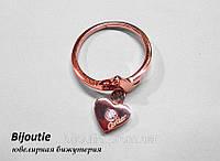Кольцо CARTIER HEART ювелирная бижутерия золото 14к декор кристаллы Swarovski