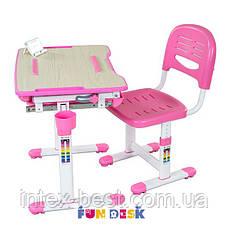 Комплект парта и стул-трансформеры FunDesk Bambino Pink, фото 3