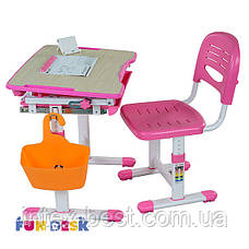 Комплект парта и стул-трансформеры FunDesk Bambino Pink, фото 2
