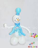 Снеговик с прозрачным пузиком из воздушных шаров