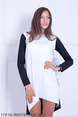 Стильне молодіжне біло-чорне плаття Sanny