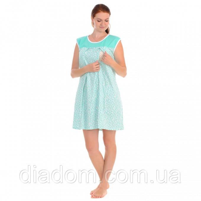 Ночная рубашка для беременных и кормящих мам, цветочный принт