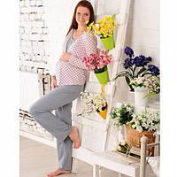 Пижама для беременных и кормящих мам трикотажная Розовая дымка
