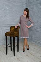Качественное женское платье с кружевом