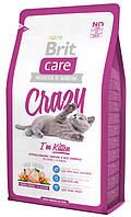 Корм для котят с курицей и рисом Brit Care Cat Crazy Kitten
