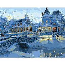 Картина по номерам Уютный снежный вечер