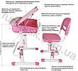 Комплект парта и стул-трансформеры FunDesk Capri Blue, фото 4