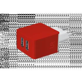 Зарядное устройство TRUST URBAN  Dual Smart Wall Charger Red