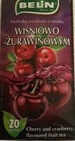 Чай Belin Белин Wisniowo Zurawinowym (вишня клюква) 40 г. Польша