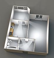 Однокомнатные квартиры 42,78 кв.м. 5 этаж_30000