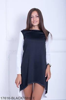 Стильне молодіжне чорно-біле плаття Sanny
