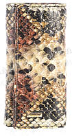 Стильная прочная лаковая надежная кожаная ключница HELEN VERDE art. 2232B-E32 рептилия лак
