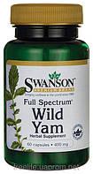 Дикий Ямс полного спектра, 400 мг, 60 капсул, Wild Yam, Swanson Premium