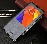 Черная чехол-книжка с одним окошком для Meizu MX5
