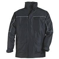 Куртка на молнии, утепленная, черная RIPSTOP. Размер  XL, XXL