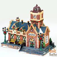 Новогодний фарфоровый домик Railroad Station