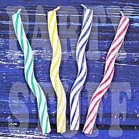 Свечи для торта Волна с витым рисунком, 8 шт
