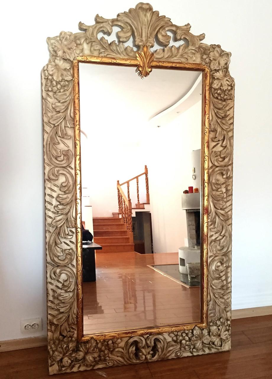 Дубовое резное зеркало  - Hommie Interior в Киеве