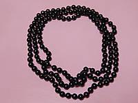 Нитка жемчуга черного цвета, фото 1