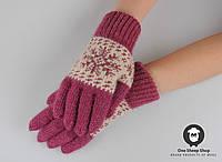 Шерстяные перчатки, женские перчатки, розовые перчатки, перчатки из ангорки, фото 1