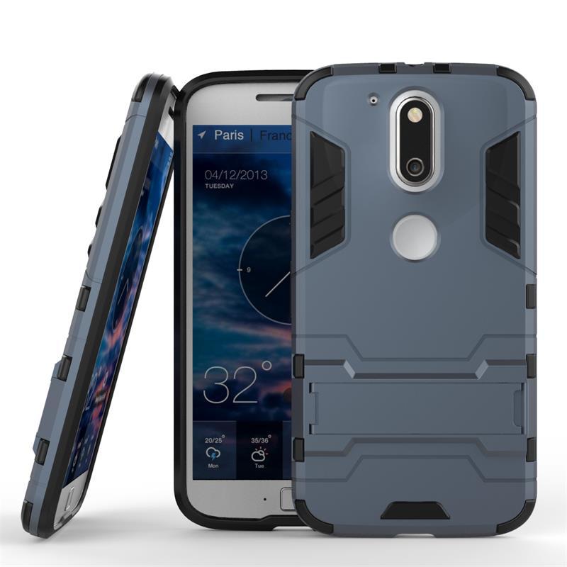 Чехол Motorola Moto G4 / G4 plus / XT1622 / XT1642 Hybrid Armored Case темно-синий
