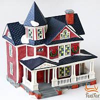 Фарфоровый декор домик с подсветкой New Year
